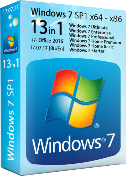 Windows 7 SP1 13in1 сборка 17.07.2017