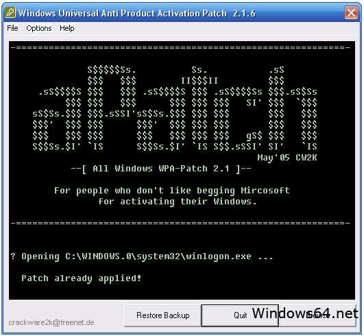 Windows xp activation wpa kill indianpigi.