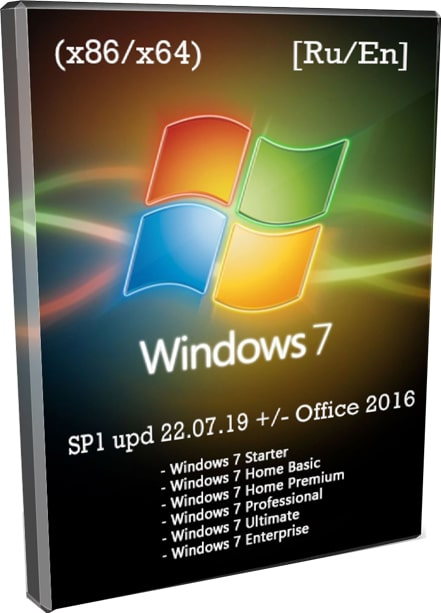 Windows 7 SP1 by SmokieBlahBlah 2019 все версии в ISO
