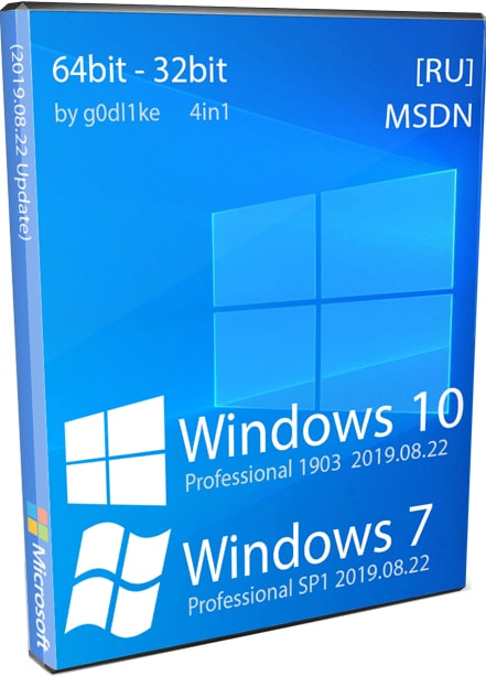 Windows 7 и Windows 10 by g0dl1ke в одном ISO образе Pro 32-64bit на русском