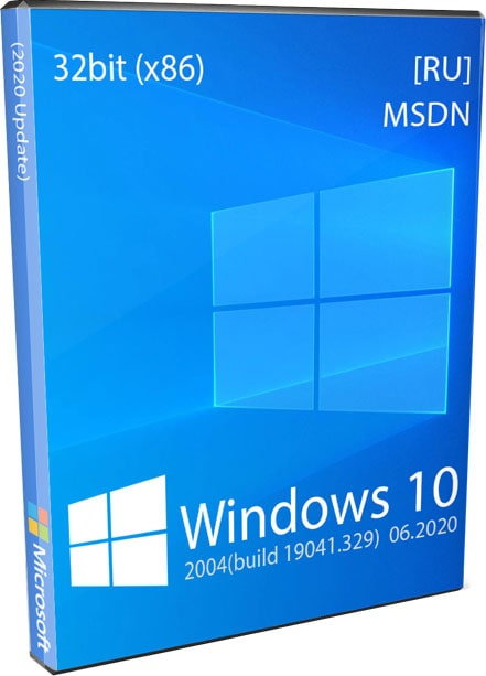 Windows 10 32bit 2004 Оригинальный ISO образ x86