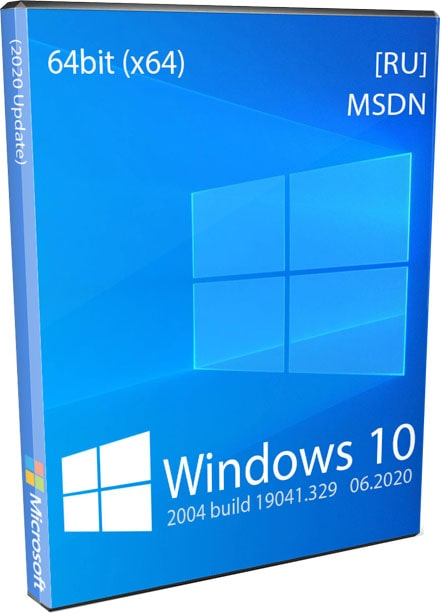 Windows 10 64bit 2004 Оригинальный ISO образ x64